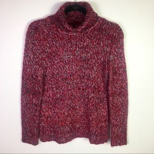 Relativity Chunky Red Turtleneck Sweater